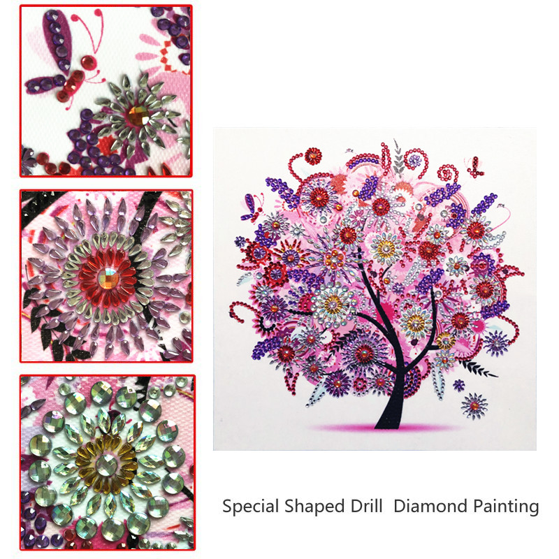 5D DIY Diamond Painting Landscape Flower Tree Special Shaped Diamond Embroidery Painting Mosaic Sticker Cross Embroidery Decorat