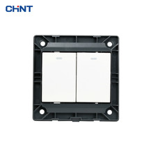 CHNT 86 Type Wall Switch Panel NEW7N Ivory White Two Gang Multi Control Light Switches
