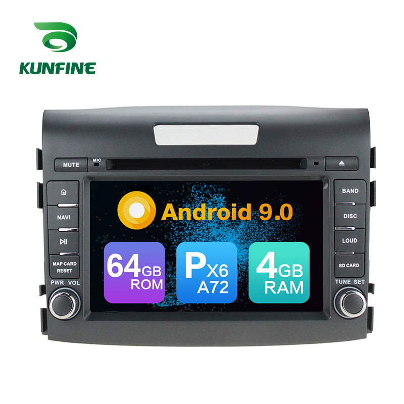 Android 9.0 Core PX6 A72 Ram 4G Rom 64G Car DVD GPS <font><b>Multimedia</b></font> Player Car Stereo For <font><b>HONDA</b></font> <font><b>CRV</b></font> 2012 2013 <font><b>2014</b></font> radio headunit image
