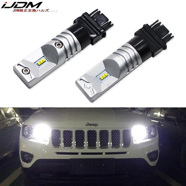 6000K biały 6 SMD zasilany przez Luxen LED 3157 3357 3457 4114 LED żarówki dla 2011 up Jeep kompas dla światła dzienne 12V