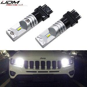 Image 1 - 6000K blanc 6 SMD alimenté par Luxen LED 3157 3357 3457 4114 ampoule LED pour 2011 up Jeep boussole pour feux de jour 12V