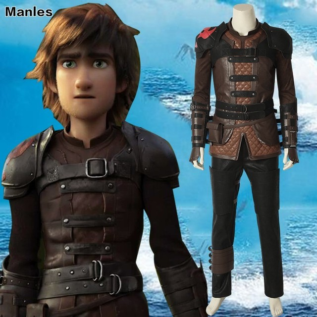 How To Train Your Dragon: The Hidden World Cosplay Hiccup Costume Film Carnival Adult  Halloween Custom Made Outfit T-shirt