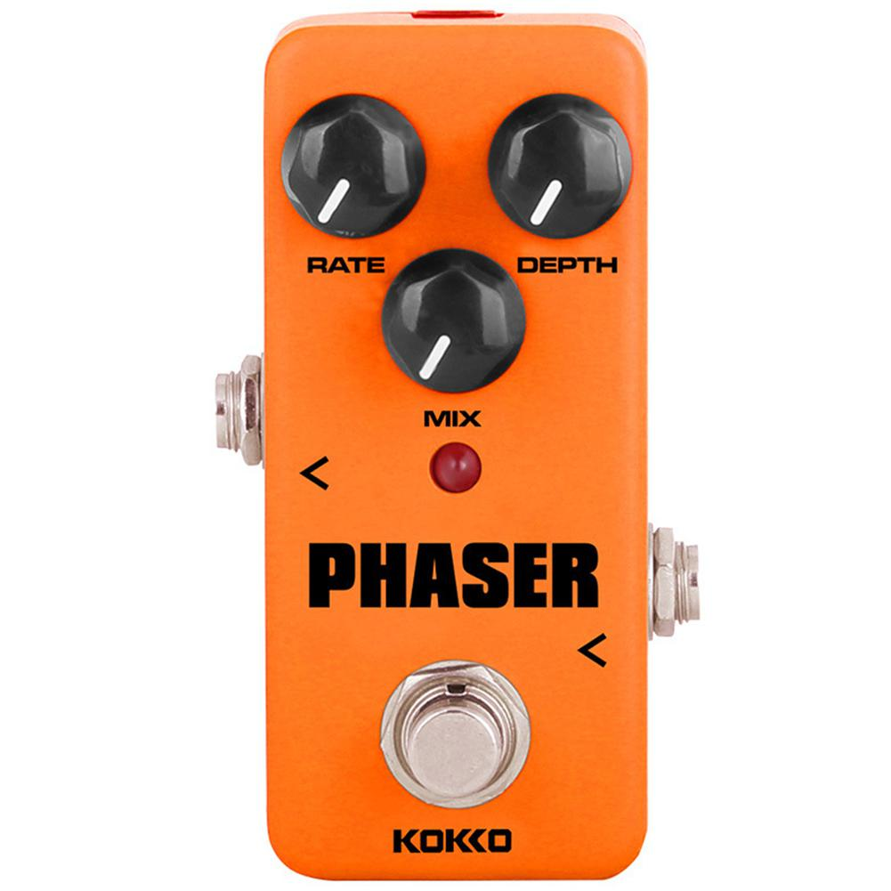 KOKKO Electric Guitar Effects Orange Vintage Analog Phaser Guitarra Effect Pedal with True Bypass DC 9V