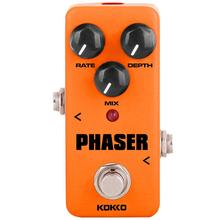 KOKKO Electric Guitar Effects Orange Vintage Analog Phaser Guitarra Effect Pedal with True Bypass DC 9V Guitar Accessories FPH-2