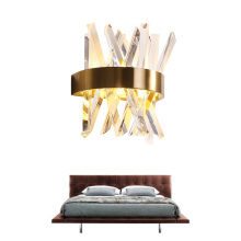 Modern Crystal wall light For Living Room Luxury Stainless Steel  crystal lamp home Gold sconce AC 110V 220V
