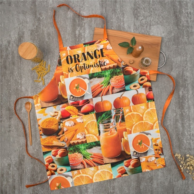 Apron Ethel ORANGE 60х70 cm cm, 100% CHL, twill 190 C/m2 4136523 towel ethel ренесанс type 2 40х73 cm 100% chl twill 190 c m2 4136513