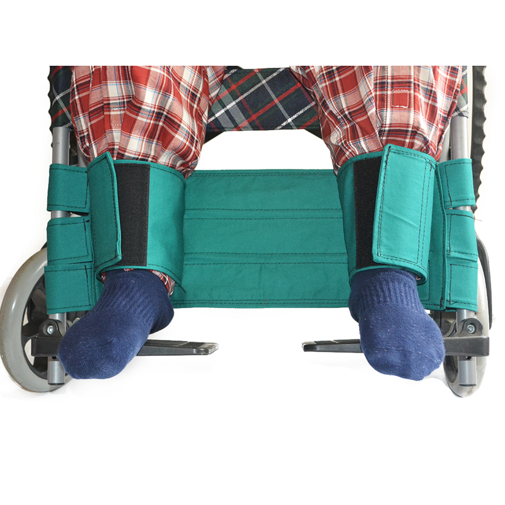 Adjustable Cotton Cloth font b Wheelchair b font Leg Strap Sea Belt for font b Disabled