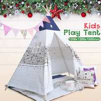 SGODDE Pet Tents Outdoor Wigwan Large Kids Play Tent Teepee Tipi Portable Folding Camping Outdoor Indoor Outdoor Puppies House