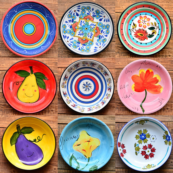 hand painted ceramics 8.2 inch dish | shallow basin Home soft ceramic plate hand painting tableware western dish decoration-in Porcelain Plates from Home ...  sc 1 st  AliExpress.com : painting on ceramic plates - Pezcame.Com