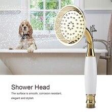 G1/2 Gold Handheld Shower Head Bathroom Sprayer showerhead Home Accessories hand shower douchekop