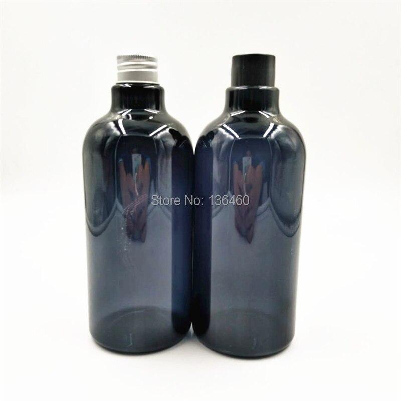 30 stks 500 ml Kobaltblauw Boston Ronde cosmetische flessen groothandel luxe HUISDIER verpakking voor Lotions Vloeibare Zeep Grijs refill fles-in Hervulbare Flessen van Schoonheid op  Groep 2