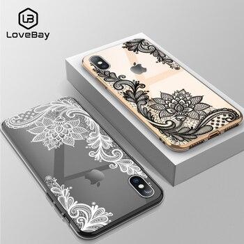 Lovebay чехол для телефона iPhone 6 6s 7 8 Plus 11 Pro X XR XS Max 5 5s SE сексуальный кружевной прозрачный мягкий чехол из ТПУ