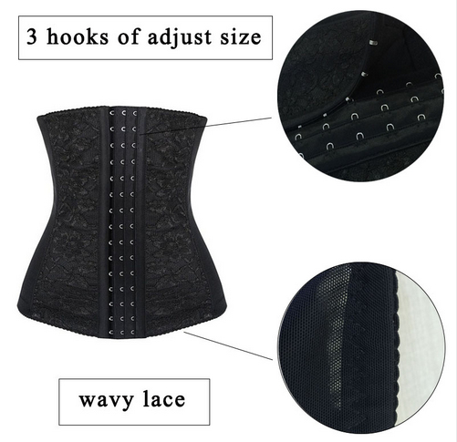 Plus Size XL-6XL Waist Trainer Corsets Overbust Corset Steel Boned Lace Cincher  Girdle Control Tummy Slimming Belt Body Shaper