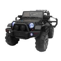 12V Kids Ride On Car SUV MP3 RC Remote Control LED Lights Black