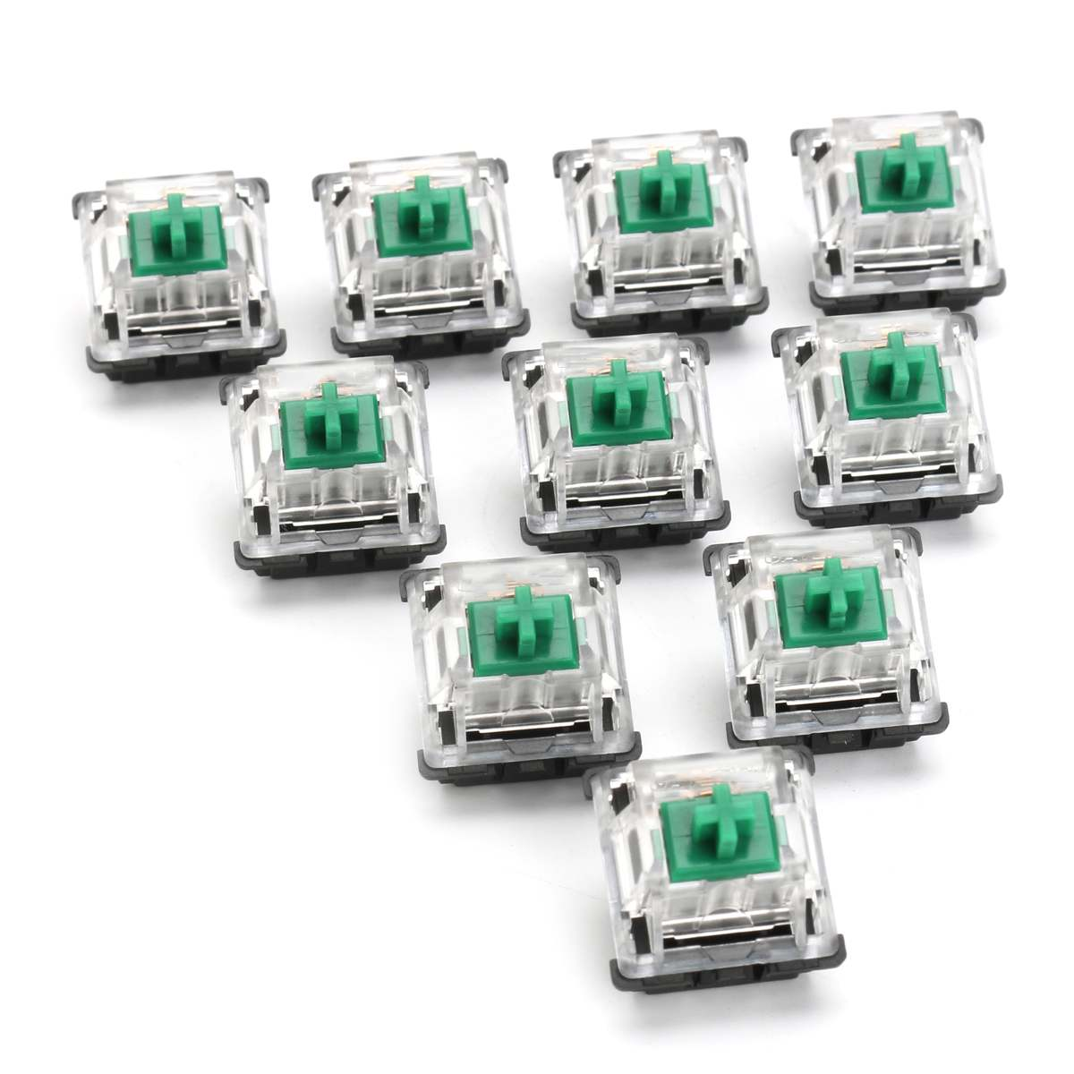 10Pcs RGB <font><b>Mechanical</b></font> <font><b>Keyboard</b></font> Switch 3 Pin for Cherry MX Gateron SMD KeyCap Green Switch <font><b>Keyboard</b></font> Replacement Sampler <font><b>Tester</b></font> Kit image
