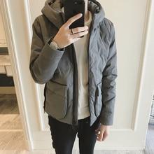 3d Pocket Winter coats Clothes Tide Male Cotton-padded Coat Cotton Male parka men jaket overcoat цены онлайн