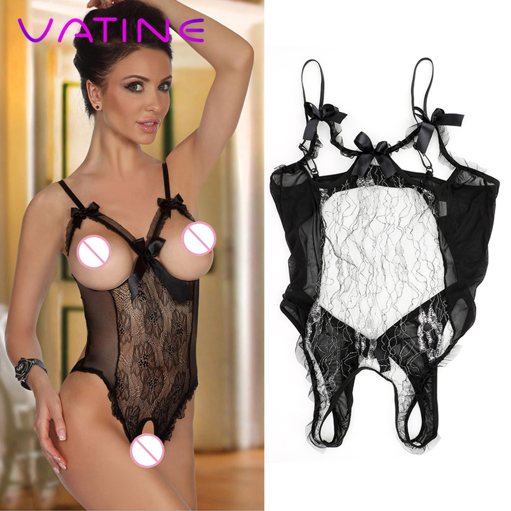 VATINE Exotic Apparel Sexy Lace Floral Dress Sex Underwear Sexy Lingerie Open Crotch And Chest Backless Sex Toys For Women
