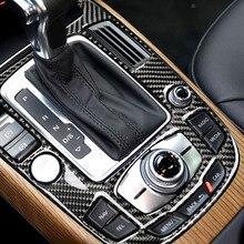 For Audi A4L A5 2009 2010 2011 2012 2013 2014 2015 2016 / Q5 2010   2018 Carbon Fiber Center Console Gear Shift Panel Cover