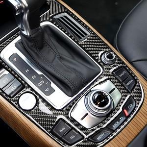 Image 1 - For Audi A4L A5 2009 2010 2011 2012 2013 2014 2015 2016 / Q5 2010   2018 Carbon Fiber Center Console Gear Shift Panel Cover