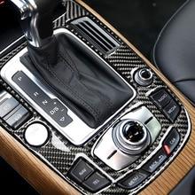 Pour Audi A4L A5 2009 2010 2011 2012 2013 2014 2015 2016 / Q5 2010   2018 En Fiber De Carbone Console centrale de Changement De Vitesse Panneau Couverture