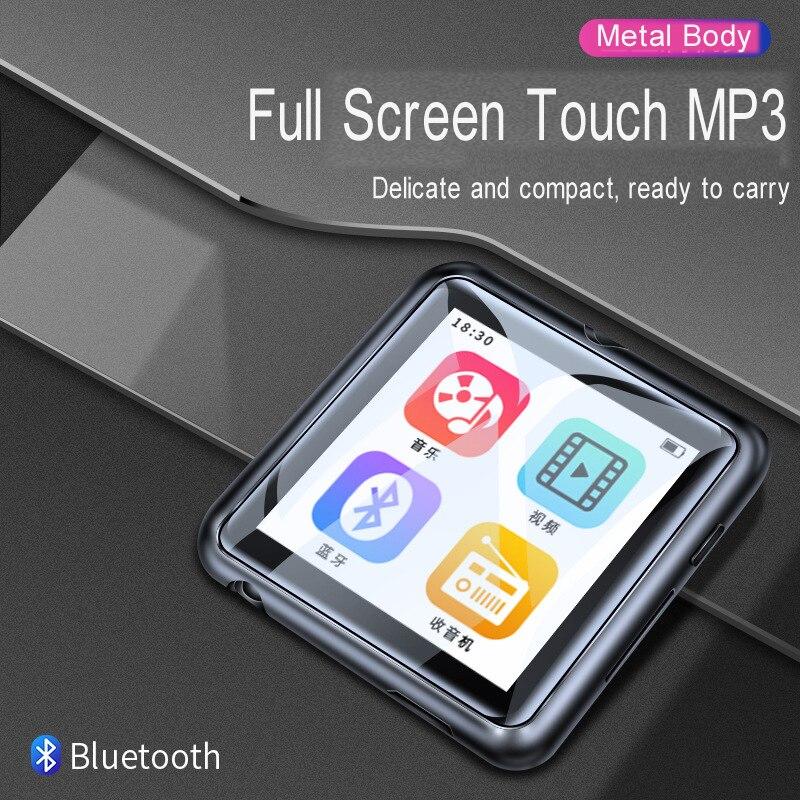Full Touch Screen Leitor de Música de ALTA FIDELIDADE MP3 Bluetooth4.1 Gravação de Voz FM Rádio Portátil Walkman 8G de Memória SD de 128 GB expansão