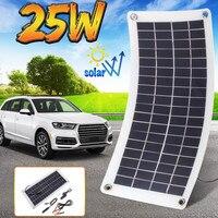 25 Вт 12 в двойной солнечные панели из кремня портативный запасные аккумуляторы для телефонов доска внешний батарея зарядки солнечных батаре...