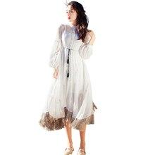 d8632114ac63 Spring Vintage Women Long dresslt Embroidered Flow Comb Dresses White  1328(China)