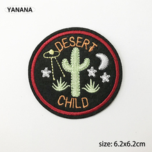 Cactus  desert child embroidery with badges Iron on Patches for Clothing DIY Hobby collection