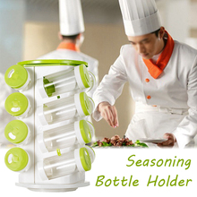 16pcs/set Creative Transparent Seasoning Cans Kitchen Rack Condiment Bottles Spice Jar Pepper Shaker Box Herb & Spice Tools