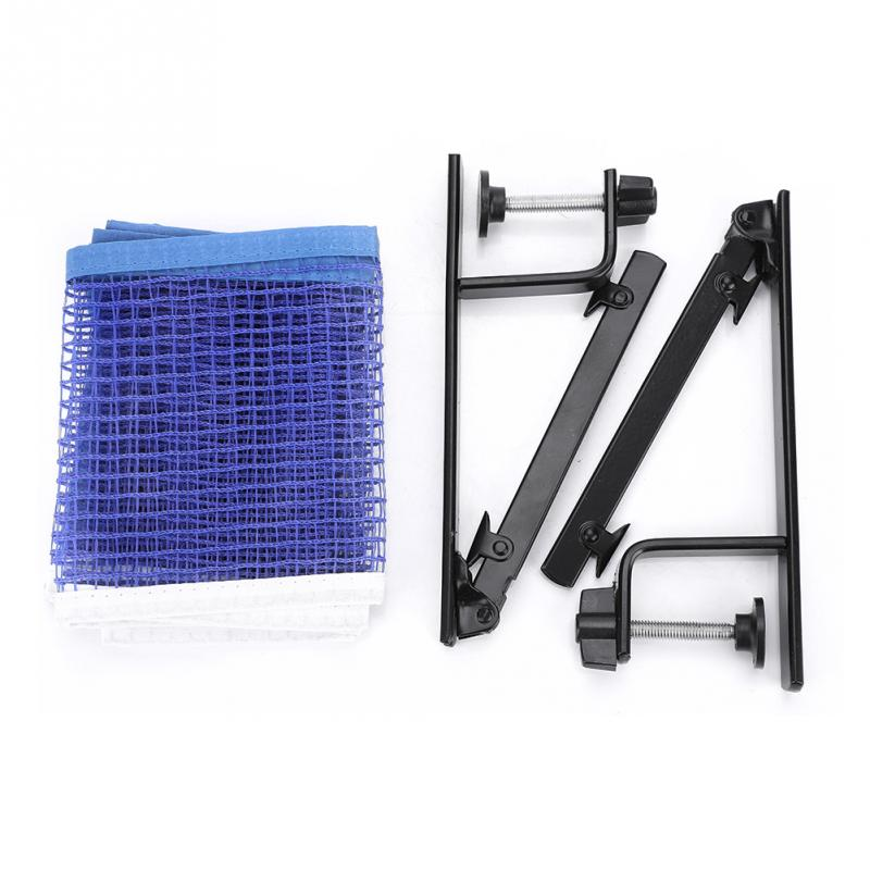 Standard Table Tennis Net with Metal Clamp Posts Rack Sturdy Durable Nylon Ping Pong Table Net Table tennis Accessories