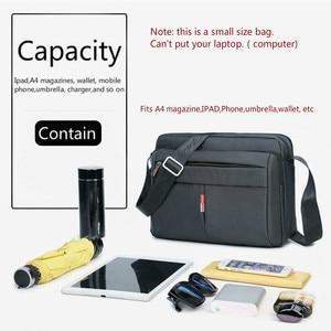 Image 5 - 높은 품질 남자 메신저 서류 가방 가방 작은 용량 서류 가방 좋은 방수 나일론 남성 비즈니스 어깨 가방 IPAD