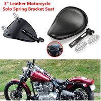 Motorcycle Soft PU Leather Seat 3Spring Solo Bracket For Harley Chopper Bobber