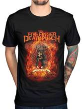 Official 5 Five Finger Death Punch Burn In Sin Graphic T-Shirt Merch FFDP 5FDP Male Hip Hop funny Tee Shirts cheap wholesale