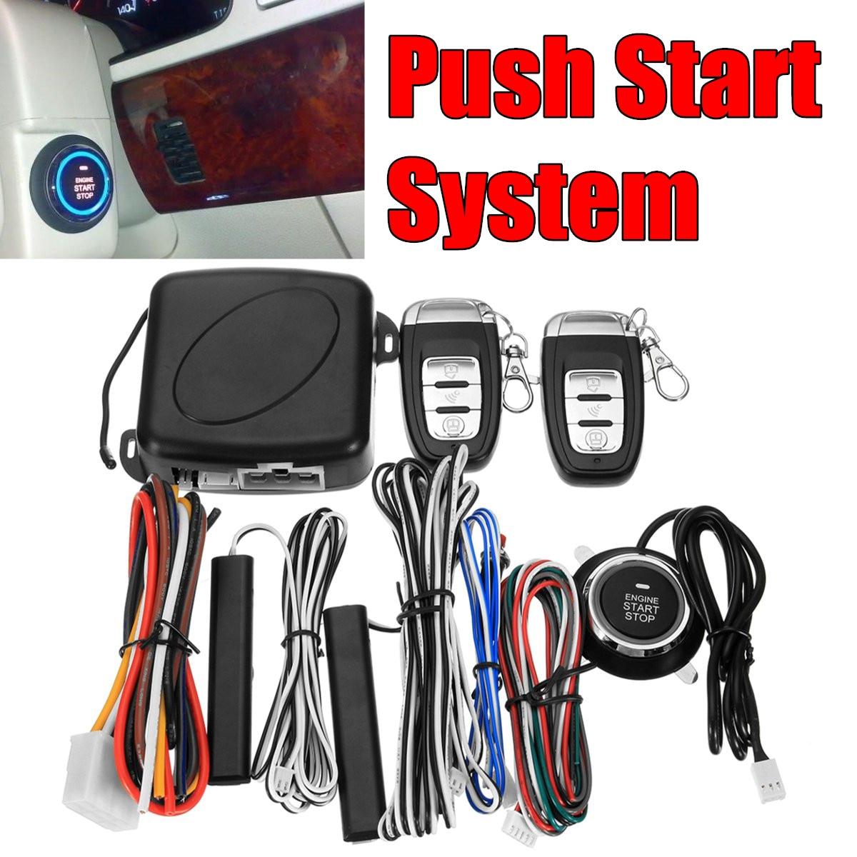 9 pièces Smart Auto voiture alarme moteur démarrage bouton poussoir démarrage arrêt sécurité sans clé entrée système de commutateur d'allumage Push Starter date - 4