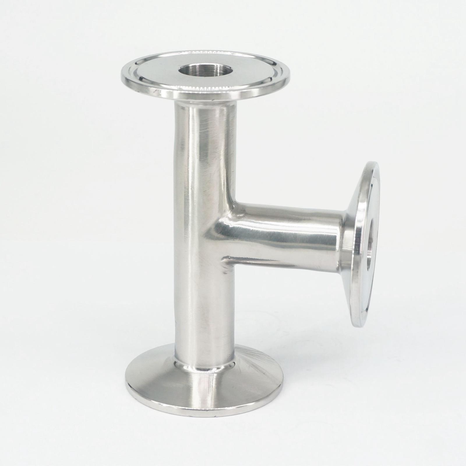 19mm O/D 304 Stainless Steel Sanitary Ferrule Tee Connector Pipe Fitting Tri Clamp19mm O/D 304 Stainless Steel Sanitary Ferrule Tee Connector Pipe Fitting Tri Clamp