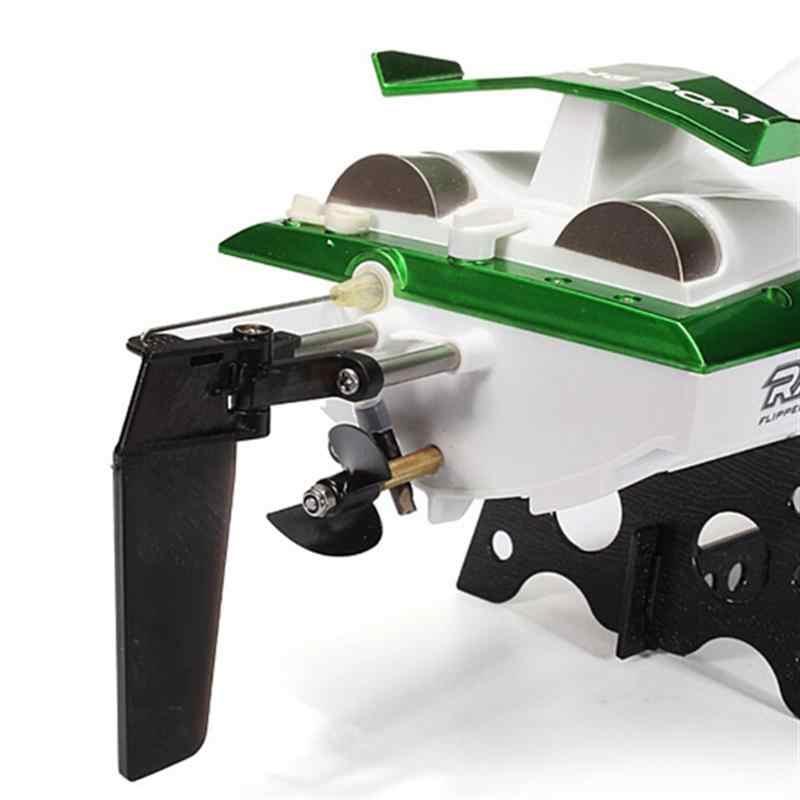 FT009 2.4GHz pilot zdalnego sterowania wysokiej prędkości RC wyścigi łodzi z systemem chłodzenia wodą/ue-wtyczki zasilacz (zielony)