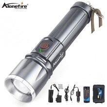 AloneFire X900 CREE XML T6 LED Zaklamp Aluminum flashlight Torch Zoom lanterna Waterproof lantern hike 26650 Battery USB charge