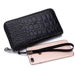 Image 2 - Womens Wallet Genuine Leather Wallet  Rfid 27 Card Holders Coin Purse Zipper Wallet For Women Кошелек portemonee vrouwen