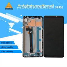 "Axisinternational For 6.9""Xiaomi Max 3 MI Max 3 LCD Screen Display Frame Touch Panel Digitizer For Mi Max 3 MIMAX 3 Screen Frame"