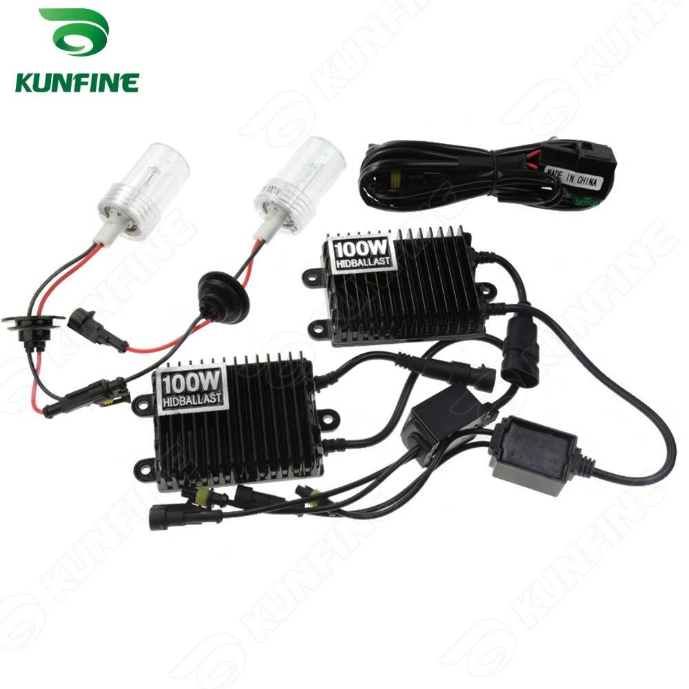 12 v 100 w H7 voiture HID Kit de Conversion HID xénon KIT voiture HID phare avec 100% AC ballast