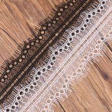3 м белый и черный мягкий цветочный кружево с ресничками ткань кружевной отделкой Diy Костюмы пошивное ремесло кружевные аксессуары лента аппликация, украшение