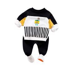 Spring Autumn Children Clothing Sets Baby Boys Girls Clothes Kids Infant Cartoon Camera T-Shirt Pants 2Pcs/Set Cotton Tracksuits infant clothing sets baby girls boys cotton clothes suits children cartoon car t shirt pants 2pcs set kids casual tracksuits