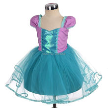 New Little Baby Girls Mermaid Dress Costume Cosplay Dress up Halloween Christmas Purim Holiday Party