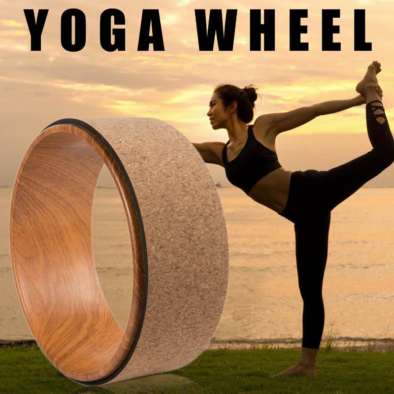 Yoga Circle Pilates Fitness Train Auxiliary Wheel Exercise Assistance Wheel Massage Back Bend Sports Bodybuilding Sliming Tool