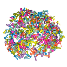 100 шт Мини Brads разных цветов Круглые Brads пастельные Brads для скрапбукинга рукоделия для штамповки и рукоделия-5,5x11 мм