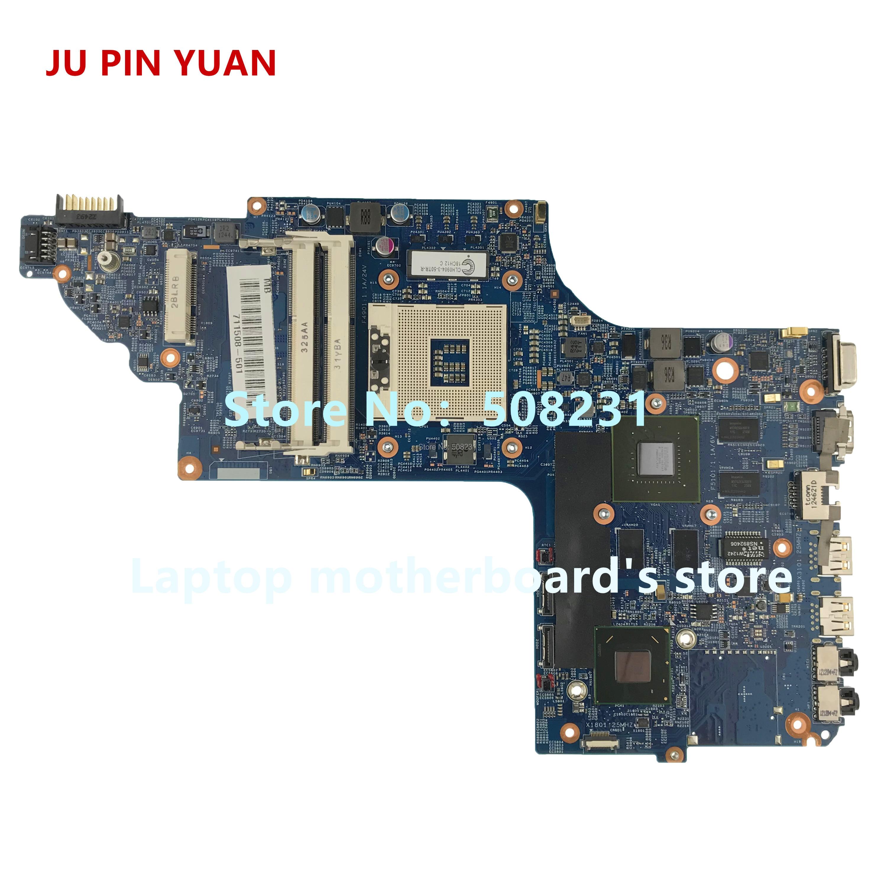 JU PIN YUAN 711508-001 711508-501 pour HP DV7 DV7T DV7-7000 carte mère d'ordinateur portable entièrement testé
