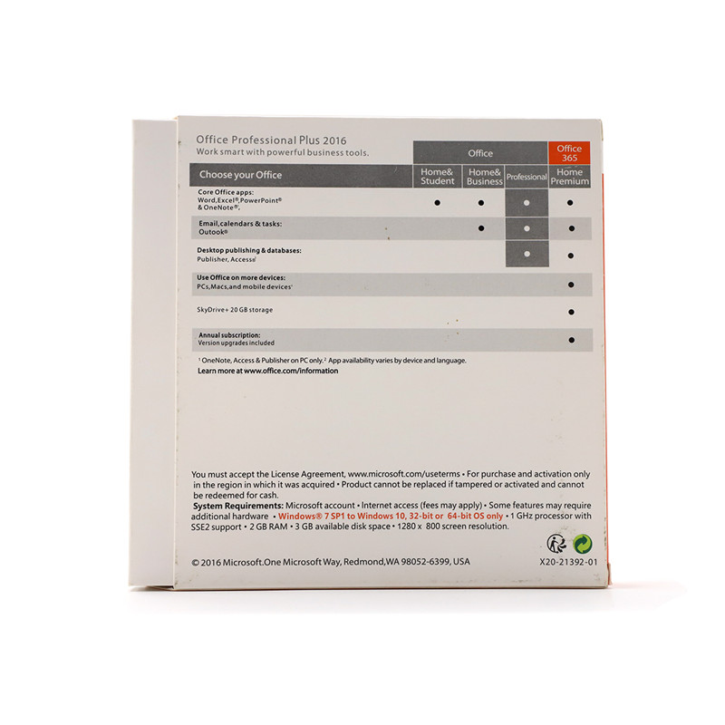 Image 5 - Microsoft Office 2016 Professional Plus for Windows PC Retail Boxed Product Key Card inside with DVD-in Office Software from Computer & Office