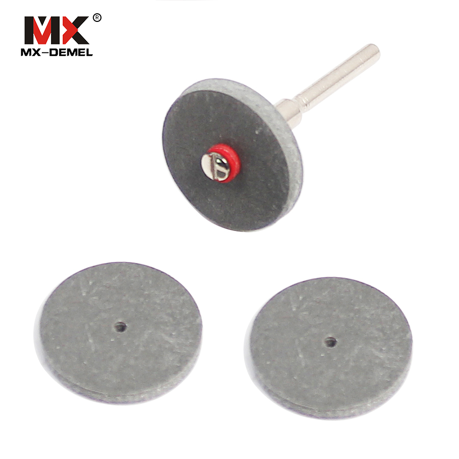 MX-DEMEL 3pcs 22*3mm Rubber Polishing Wheels For Dental Jewelry Dremel Rotary Tools Polishing Disc With A Mandrel Abrasive Tools