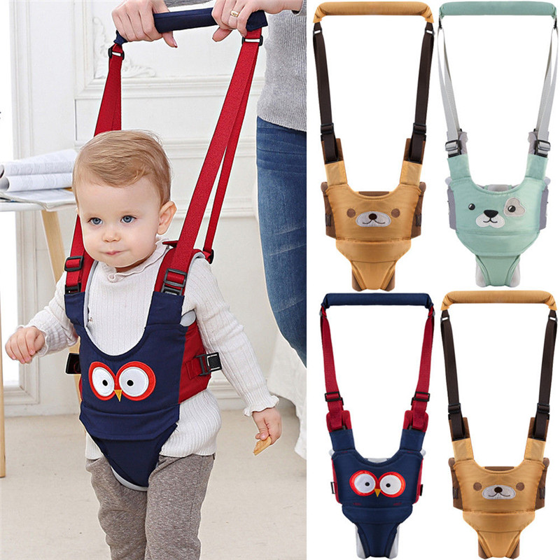Toddler Baby Walking Assistant Learning Walk Safety Belt Harness Walker Wings Cartoon Activity Gear Harnesses Leashes Wholesale