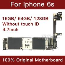 for iphone 6S Motherboard with Full Chips,unlocked for iphone 6s Logic boards without Touch ID by 16gb / 64gb / 128gb